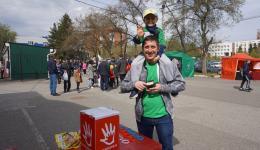 Чудо-болельщики помогли героине марафона