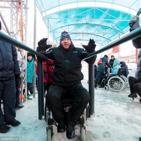 Спортплощадка для инвалидов впервые открылась в Томске
